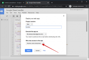 google deploy as web app